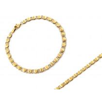 Złota bransoletka składana z małych sześciokątów