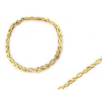 Bransoletka złota splatana ze sztywnych elementów