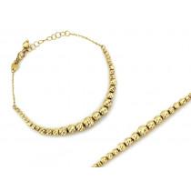 Bransoletka złota z diamentowanych kulek