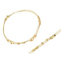 Bransoletka złota podwójna łańcuszkowa z nieskończonościami