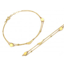 Bransoletka złota podwójna łańcuszkowa