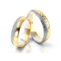 Obrączki ślubne z żółto-białego złota z wyróżniającym się matem