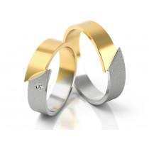 Ekstrawaganckie obrączki ślubne z żółto białego złota