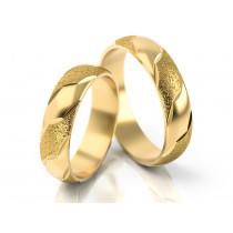 Obrączki ślubne z ozdobnym wykończeniem matowym i błyszczącym