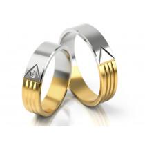 Obrączki ślubne z oryginalnym dwukolorowym wykończeniem