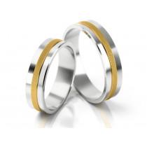Eleganckie obrączki ślubne z matowym i wypukłym zdobnikiem