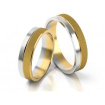 Dwukolorowe obrączki ślubne z żółtego i białego złota