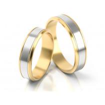 Błyszczące obrączki ślubne z brzegami z żółtego złota