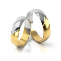 Obrączki ślubne dwukolorowe