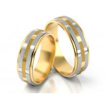 Obrączki ślubne z wytwornym zdobieniem