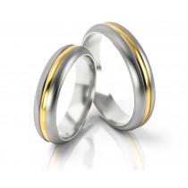 Dwukolorowe eleganckie obrączki ślubne