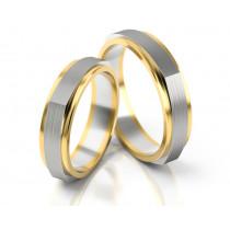 Płaskie dwukolorowe obrączki ślubne