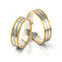 Ślubne dwubarwne obrączki