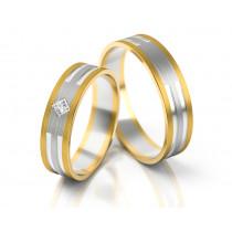 Ślubne szykowne dwukolorowe obrączki