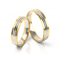 Dwukolorowe obrączki ślubne