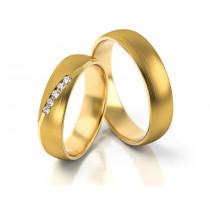 Obrączki ślubne satynowane z żółtego złota