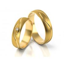 Obrączki ślubne złote z fantazyjnym grawerem