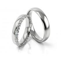 Obrączki ślubne z białego złota eleganckie i wyjątkowe