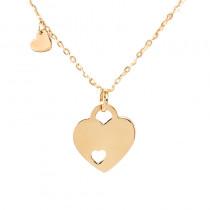 Złoty naszyjnik dwa serca