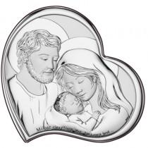 Obrazek srebrny serce ŚWIĘTA RODZINA