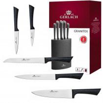 GERLACH GRANITEX Komplet 5 noży w bloku  / 6 el /