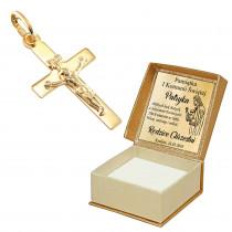Złoty krzyżyk 585 prezent na chrzest GRAWER
