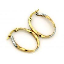 Złote kolczyki koła diamentowane