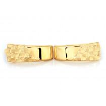 Złote kolczyki z diamentowaniemna zapięciu angielskim
