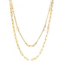 Złoty naszyjnik łańcuch z cyrkoniami