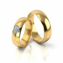 Obrączki ślubne półokrągłe z serduszkiem