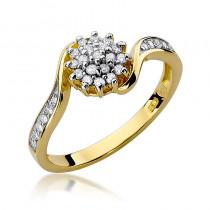 Fantazyjny pierścionek zaręczynowy z diamentami