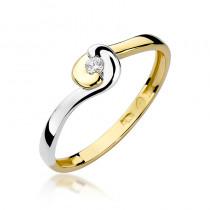 Oryginalny złoty pierścionek z diamentem