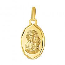 Złoty medalik z wizerunkiem Matki Boskiej Częstochowskiej