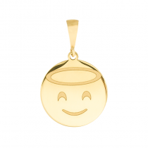 Złota zawieszka emotikon emoji Aniołek