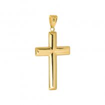 Złota zawieszka dwustronny klasyczny krzyżyk