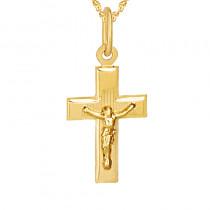 Złoty komplet krzyżyk z łańcuszkiem Prezent Grawer GRATIS