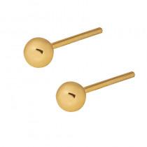 Złote kolczyki klasyczne kulki na wkrętki