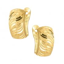 Złote kolczyki z błyszczącym wykończeniem