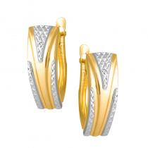 Złote kolczyki z białym złotem