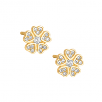 Złote kolczyki z cyrkoniami
