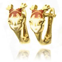 Oryginalne złote kolczyki