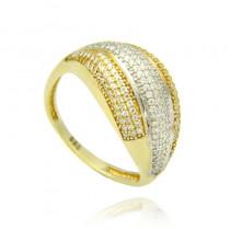 Szykowny złoty pierścionek