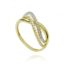 Złoty stylowy pierścionek