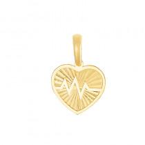 Złote urocze diamentowane serduszko z linią życia Prezent Grawer GRATIS