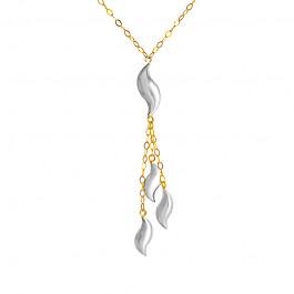 Złoty naszyjnik z białym złotem