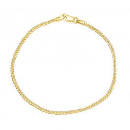 Niesamowicie połyskująca złota bransoletka z dodatkiem białego złota Prezent Grawer GRATIS