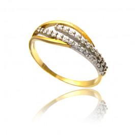 Stylowy pierścionek ze złota