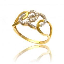 Urokliwy pierścionek z żółtego złota