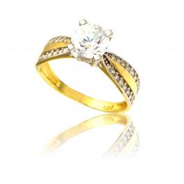 Wystawny złoty pierścionek