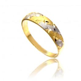 Wielobarwny złoty pierścionek